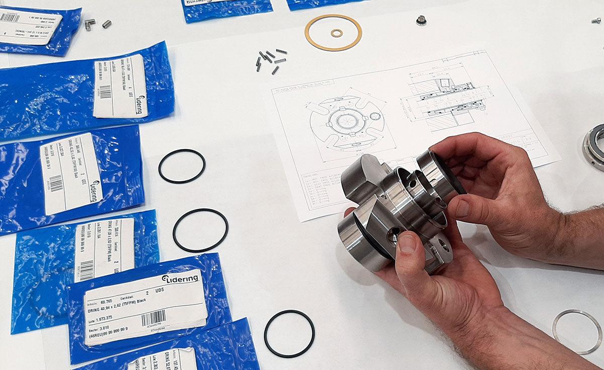 Reparación sello mecánico Lidering